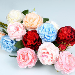 $enCountryForm.capitalKeyWord Australia - Artificial peony flowers wedding party decorations single head silk flowers for bouquet table centerpieces home decorations