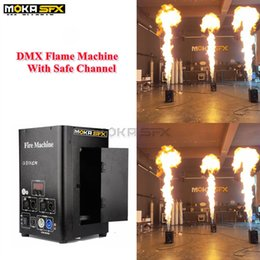 Discount stage fire light Spain Stock Single-Way Stage Flame Thrower 2CH Dmx Fire Machine Spray 3m High Flame Machine Stage Lighting Effect