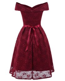 29f1e91696e Factory direct supply quality assurance 2019 dress new word collar bow lace  sexy dress wholesale price guarantee