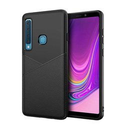 Shield Case Huawei Australia - TPU Leather Texture Phone Case For Samsung A9 2018 A30 A70 J8 2018 Cover Case Protection Shield Cellphone shell
