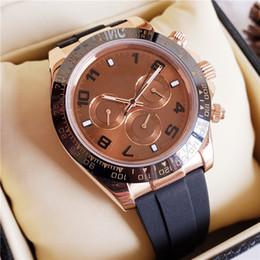 $enCountryForm.capitalKeyWord Australia - Chocolate Brown Dial Mens Luxury Watch Dayton Rubber Strap Ceramic Bezel All Dial Work Mens Automatic Movement Watches Clock