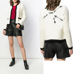 $enCountryForm.capitalKeyWord Australia - womens Long Sleeve Short Loose Coat Autumn Joker Knit Cardigan Lace Panel Jacket 2019 Autumn