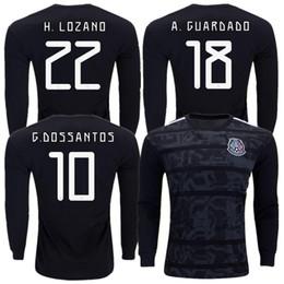 cd5ab24b6a LONG SLEEVE GOLD CUP 2019 2020 MEXICO SOCCER JERSEYS CHICHARITO H.LOZANO  G.DOS SANTOS 2019 football kit shirt camisetas de futbol