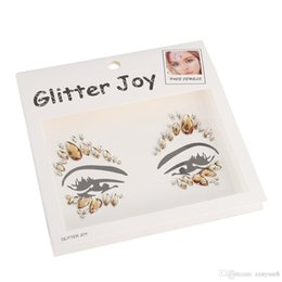 wholesale face gems NZ - 3D Face Body Stickers Set Glitter Acrylic Self-Adhesive Face Jewels Gems Body Eyes Chest Decor Beauty Makeup Bikini Decoration