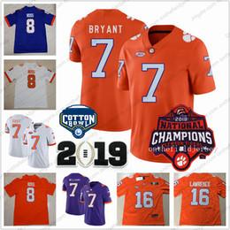 Clemson Tigers  8 Justyn Ross 88 Braden Galloway 7 Austin Bryant 2018  National Champions   Cotton Bowl NCAA College Football Jerseys S-3XL 8f801389c