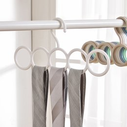 $enCountryForm.capitalKeyWord Australia - 5 Ring Hole Round Tie European Clothes Scarves Storage Rack Cloth Rotate Save Space Closet Organizer Scarf Hanger Hangers SY0033