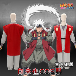 Wholesale cosplay japan naruto for sale - Group buy Halloween Japan Anime Naruto Jiraiya Cosplay Costume Battle Cloak Jacket Pants Uniform Full Set Asian Size