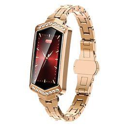 Smart Watches For Girls UK - Female Smart Watch B78 Fitness Bracelet Heart Rate Tracker Monitoring Blood Pressure Oxygen Smart Watch Bracelet For The Girl