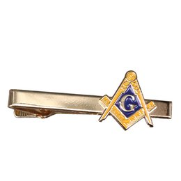 China Masonic tie clip gold tone Freemason pin AG Freemasonry tie tack simple gentlemen accessory business men gift suppliers