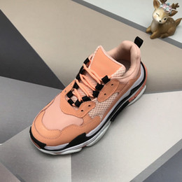 sneaker shoes for women Australia - Paris 17FW Triple-S Walking Shoes Luxury Dad Shoes chaussures femme Triple S 17FW Sneakers for Men Women Vintage Old Grandpa TrainerT01