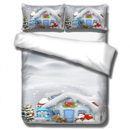 $enCountryForm.capitalKeyWord Australia - Father Christmas Santa Presents Reversible Quilt Duvet Cover Single Double King for Home High Quality Bed Set