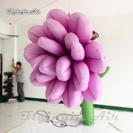 blooms flowers UK - Huge Lighting Inflatable blooming flower Plant 3m Height Simulation Flower Pillar With Led Lights For Concert Party Decoration