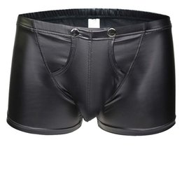 7dc51fdca Wholesale Mens Imitation Leather Underwear Sexy Boxer Briefs