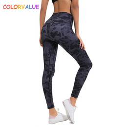 tight workout shorts 2019 - Colorvalue New Soft Printed Fitness Gym Leggings Women 4-Ways High Stretchy Sport Yoga Leggings Squatproof Workout Jogge