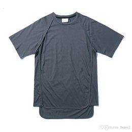 $enCountryForm.capitalKeyWord Australia - Off-shoulder Blank Hip Hop T-shirt Short Sleeve 2017 Summer Streetwear Long Line Extended Tee Shirts Men Solid Men's Tshirts