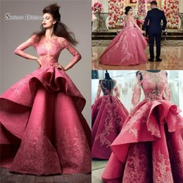 Fantasy pictures online shopping - 2019 Fantasy Prom Dresses Lace Applique Zipper Long Sleeves Fromal Evening Party Gowns Custom Made Sexy Red Carpet Dress