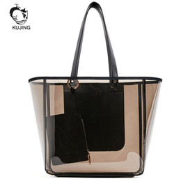 $enCountryForm.capitalKeyWord UK - Kujing Brand Fashion Handbag Transparent Women Hand Shopping Bags Cheap High Quality Women Shoulder Bag Travel Crystal Beach Bag J190702