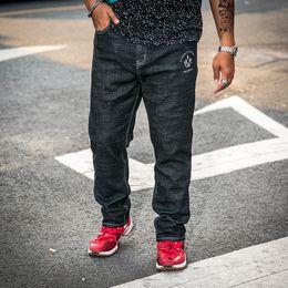 Big Denim Australia - Men's Skinny Stretch Jeans Black Hip Hop Distressed Super Skinny Slim Fit Cotton Comfortable Denim Pants Big Size 30-42 44 46 48