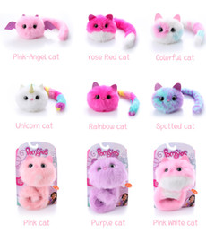 Wholesale Baby Plush Stuffed Surprise Cat Doll Children Toys Pink Soft Kids Interactive Pet Cats Juguetes Peluche Toys for Children Gifts