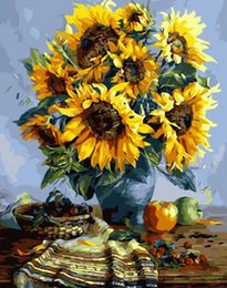 Green Money Box Australia - 40x50cm oil painting Paint by number canvas painting house Wall decor sunflowers painted with paints paint picture by numbers