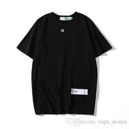 T shirTs paTTerns free online shopping - 19 explosion models OF white Box LOGO letters men s summer designer with pattern T shirt