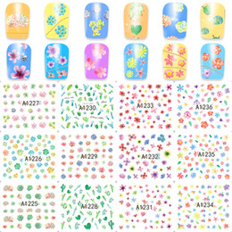 $enCountryForm.capitalKeyWord Australia - 12 Designs Sheet Nail Art Water Sticker Cactus Fresh Flowers Children Decals Polish Gel DIY Beauty A1225-1236