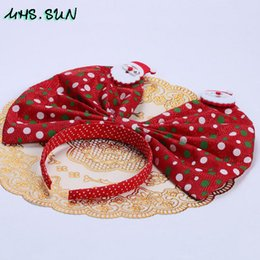 kids hairbands red UK - MHS.SUN Child Hairbands Christmas Big Bow Red Green Fashion Kids Girls Headbands Headwear Fashion Toddler Headpieces 5Pcs