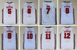 bf8e259d6 Cheap custom 1992 Olympic Dream Team Jersey Men s Basketball Retro White  Stitched customize any number name MEN WOMEN YOUTH XS-5XL