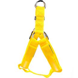 $enCountryForm.capitalKeyWord Australia - Nylon Pet Safety LED Harness Dog Product Flashing Light Harness LED Dog Harness Leash Rope Belt LED Dog Collar Vest Pet Supplies