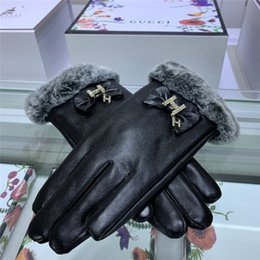 winter football gloves NZ - Winter Fall Latest Women Gloves Fashion Letter Pendant Lady Glove Classic Pattern Gifts for Girls Biking Gloves