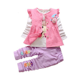 Children Flower Shirt Australia - 2019 Girls Clothes Toddler Tracksuits Fashion Spring Autumn Children Garment Baby Flower Vest T-shirt Pants 3Pcs Sets Kids Suits