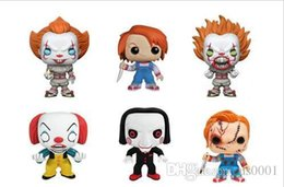 toy s wholesale NZ - China Funko Pop Horror Movies :Stephen King 'S It -Pennywise The Clown Vinyl Figure Decorative Model Toy