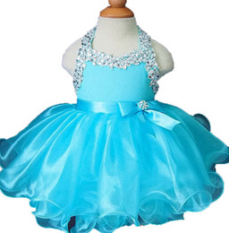 $enCountryForm.capitalKeyWord Australia - Little Girls Pageant Party Crystal Halter Cupcake Dress Toddler Mini Short Colorful Tutu Gowns Outfits Kids Formal Wear