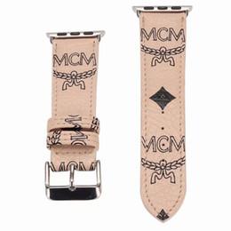 Ingrosso Cinturino di alta qualità di lusso per Apple Watch iwatch 38mm 42mm 40mm 44mm cinturini in pelle sportivo cinturino sportivo