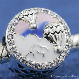 $enCountryForm.capitalKeyWord Australia - 925-Sterling Silver Bead Pandora Bracelet Hot Air-Balloon Original Pandora Jewelry Charm Blue