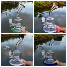14mm female joint bong online shopping - Newest Inch Mini Oil Dab Rigs Inline Perc mm Thick Glass Bong mm Female Joint Bongs Water Pipe With mm Quartz Banger