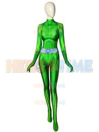 zentai suit girl NZ - Sam Totally Spies Costume DyeSub 3D Printing Green Spandex Cosplay Fullbody Zentai Suit For Felame Lady Girl Custom Made Free Shipping