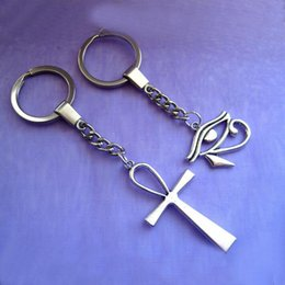 Egypt Pendants Australia - New Egypt Eye of Horus Ankh Cross Charm Pendant Decorative Key Chain Key Ring Decoration Purse Bag Backpack Jewelry Gifts