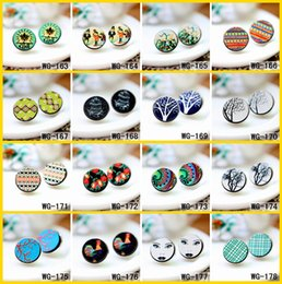 Diy For Hair Australia - ood cabochon 10PCS 3D Embossed 16mm Round Coloured Drawing pattern Laser Cut wood Cabochon DIY for Rings,Earring,Brooch,Hair pins(WG-163-...