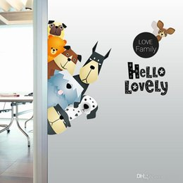 $enCountryForm.capitalKeyWord Australia - Love Family Wall sticker PVC Self-Adhesive Cartoon Dogs Wall Decal for Living Room Bedroom Decoration Kids Room Wall Decor