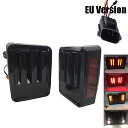 Venta al por mayor de Par LED luz trasera luz trasera estacionamiento copia de seguridad luz de freno trasera luz trasera para Jeep Wrangler JK 2007 ~ 2016