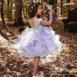 Wholesale performance tutu kids resale online - Flower Girl Dress for Wedding Children Dancing Performance Kids Dresses for Teenage Girls Ceremony Elegant Baby Clothing Years Vestidos