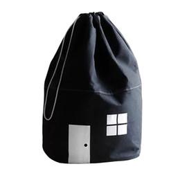 $enCountryForm.capitalKeyWord UK - Cotton Sundries Drawstring Small House Kids Mommy Bag Clothes Decoration Cubic Storage