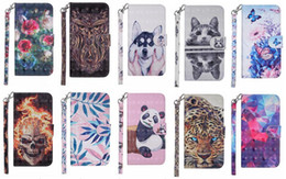 $enCountryForm.capitalKeyWord Australia - 3D Skull Leather Wallet Case For Iphone XS MAX X XR XS 8 7 6 5 SE 5S Tiger Panda Dog Rose Flower Butterfly Wolf ID Slot Pocket Holder Pouch