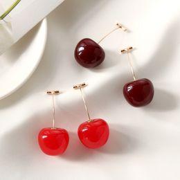 $enCountryForm.capitalKeyWord Australia - New Fashion 1 Pair Cherry Fruit Earrings For Women Tassel Dangle Earrings Cute Sweet Long Pendant Girl Gift Summer Korea Jewelry
