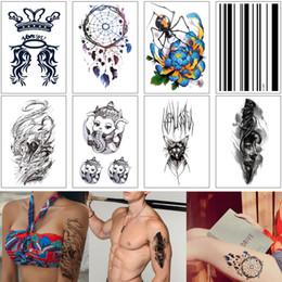 $enCountryForm.capitalKeyWord Australia - Waterproof Temporary Tattoo Sticker Cartoon Elephant Cool Sword Beauty Dreamcatcher Design for Woman Man Kid Body Art Chest Arm Leg Back DIY