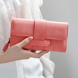 $enCountryForm.capitalKeyWord Australia - Purse Women Wallets Coin Pocket Card Holder Long Purses Three Fold Leather Phone Wallet Multifunction Ladies Money Bags