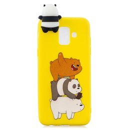 Bar Paintings UK - For Samsung A6 2018 3D Cute Coloured Painted Animal TPU Anti-scratch Non-slip Protective Cover Back Case