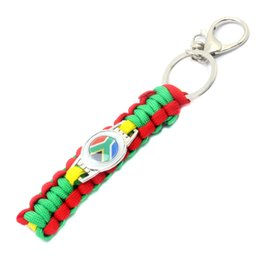 $enCountryForm.capitalKeyWord NZ - 2022 World Cup Football South Africa national Flag survival paracord Soccer Game Keyring Men Car Key Chains Souvenir Gift 2019
