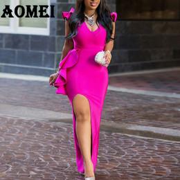 $enCountryForm.capitalKeyWord Australia - Women Long Party Dress Sexy Ruffle High Split Tight Lady Elegant Dinner Evening Maxi Slim Bodycon Tunic Femme Robe Spring Summer T5190617